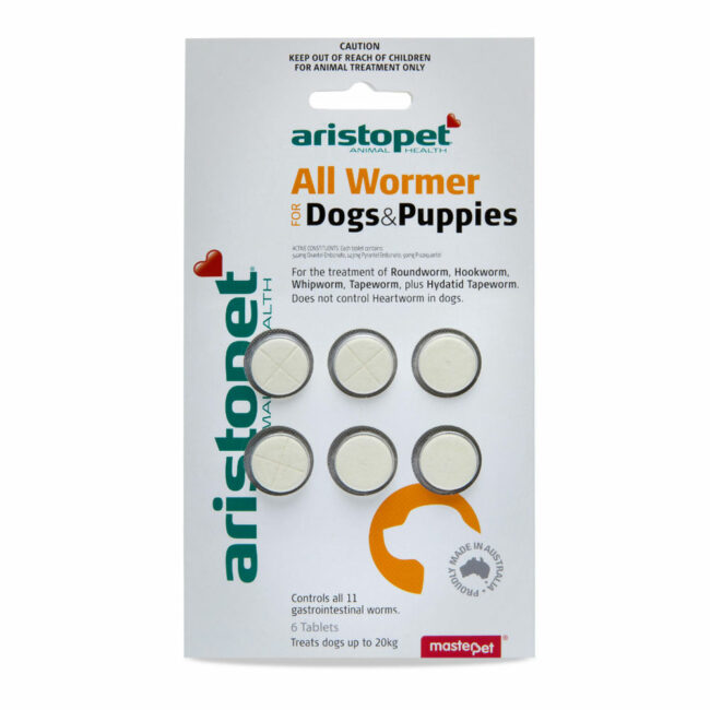 Aristopet All Wormer for Dogs and Puppies - 6 Tablets 1