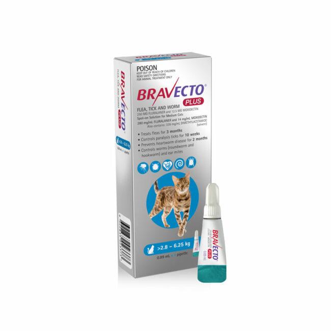 Bravecto Plus Blue Spot-On for Medium Cats 1