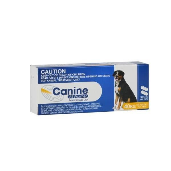 Canine All Wormer 10kg - 2 Tablets 2