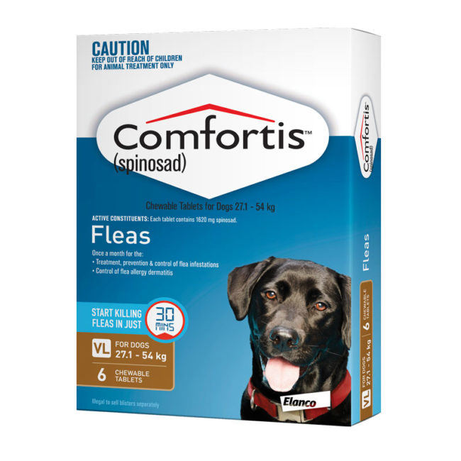 Comfortis Brown Chews for Very Large Dogs - 6 Pack 1