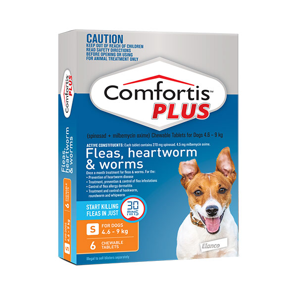Comfortis Plus Orange Chews for Small Dogs - 6 Pack 1