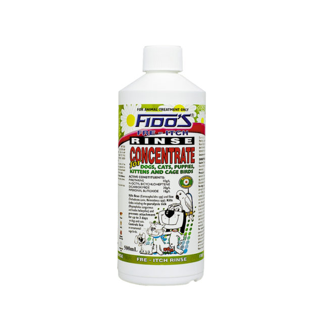 Fido's Fre-Itch Rinse Concentrate 500ml