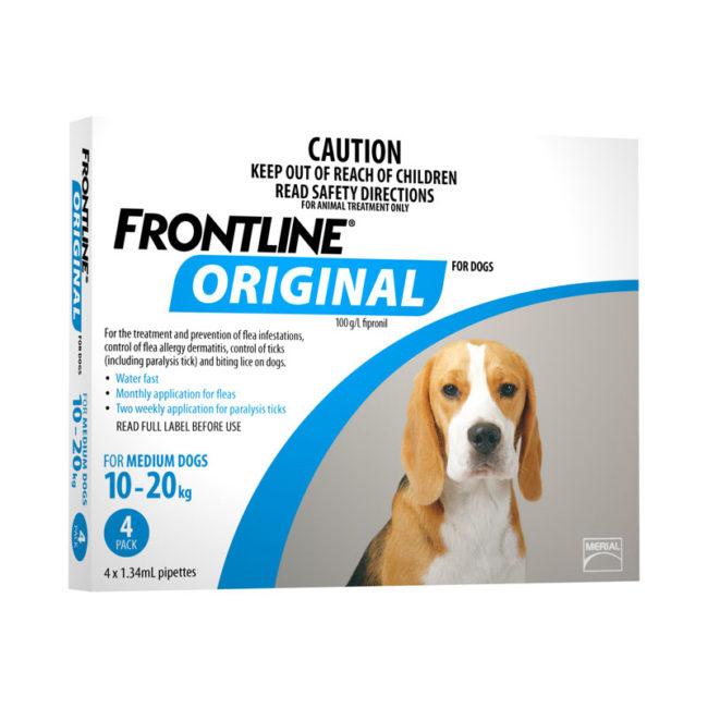 Frontline Original Blue Spot-On for Medium Dogs - 4 Pack 1