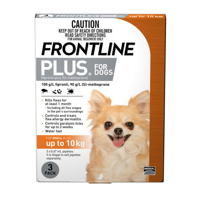 Frontline Plus Orange Spot-On for Small Dogs - 3 Pack 1