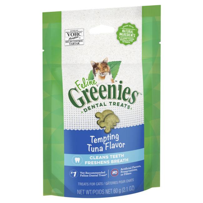 Feline Greenies Dental Treats Tempting Tuna Flavour 60g 1