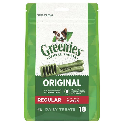 Greenies Original Regular Dental Treats for Dogs - 18 Pack 1