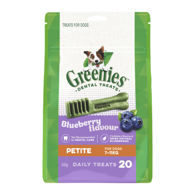 Greenies Blueberry Petite Dental Treats for Dogs - 20 Pack 1