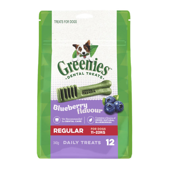 Greenies Blueberry Regular Dental Treats for Dogs - 12 Pack 1