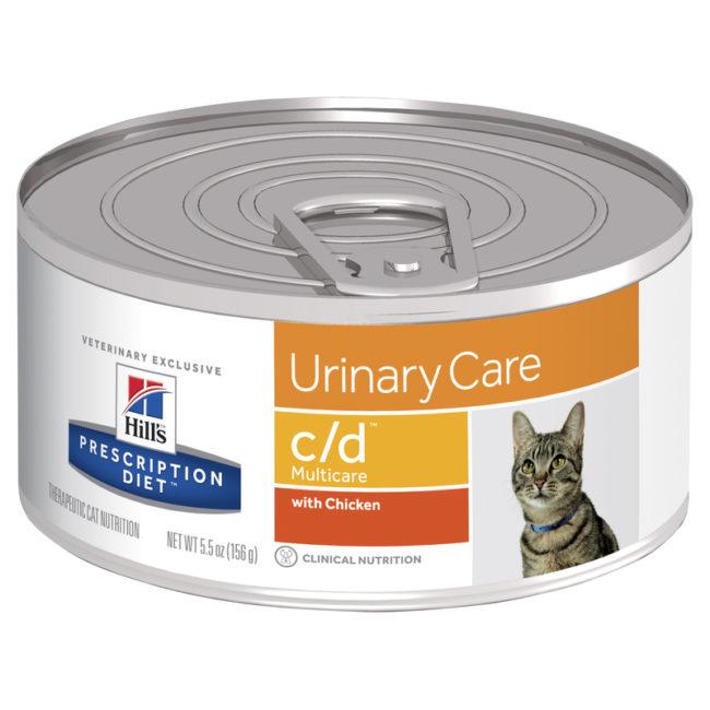 Hills Prescription Diet Feline c/d Urinary Multicare with Chicken 156g x 24 Cans 1