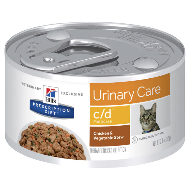 Hills Prescription Diet Feline c/d Urinary Multicare Chicken & Vegetable Stew 82g x 24 Cans 1