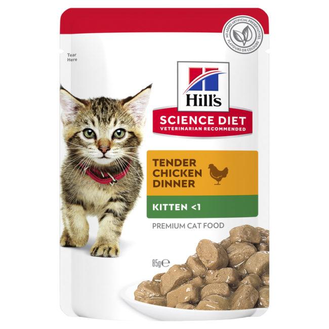 Hills Science Diet Kitten Chicken Cat Food 85g x 12 Pouches 1