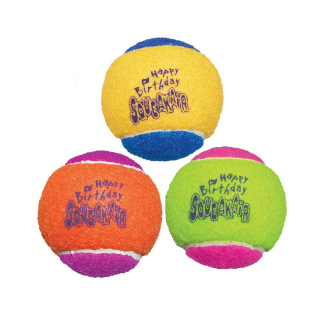 KONG Occasions SqueakAir Birthday Balls Medium - 3 Pack 1