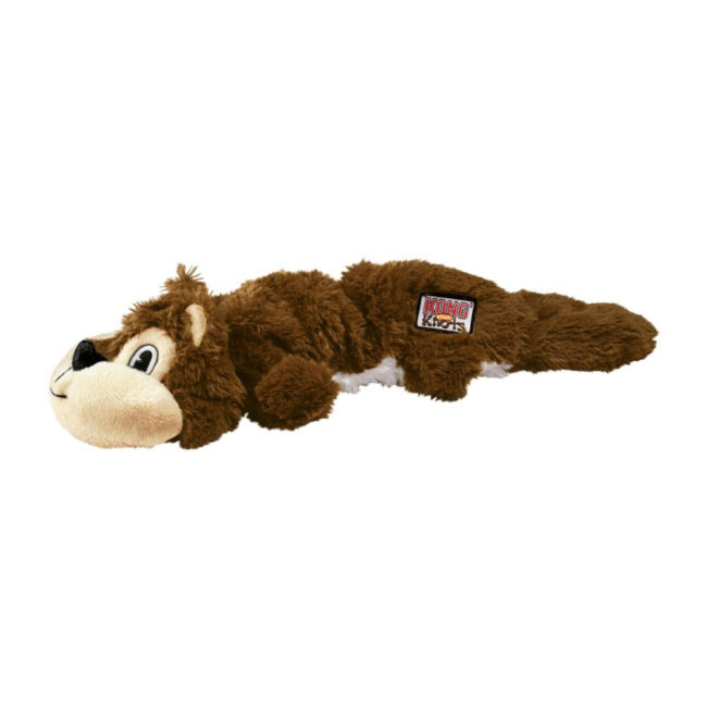 KONG Scrunch Knots Squirrel Dog Toy Large 1