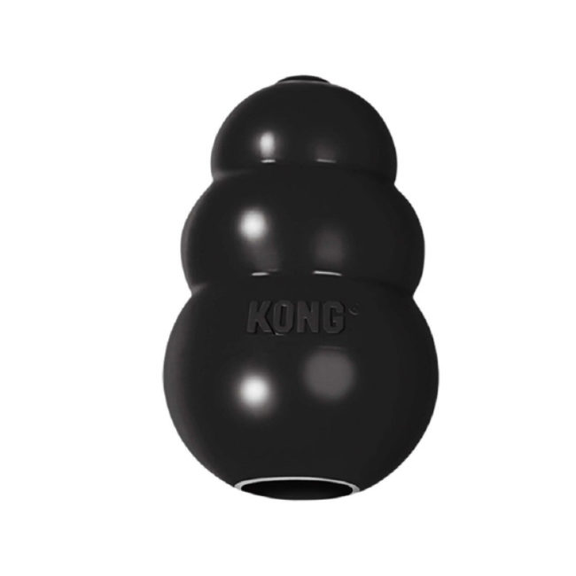 Kong Extreme Black Rubber Dog Toy Small 1