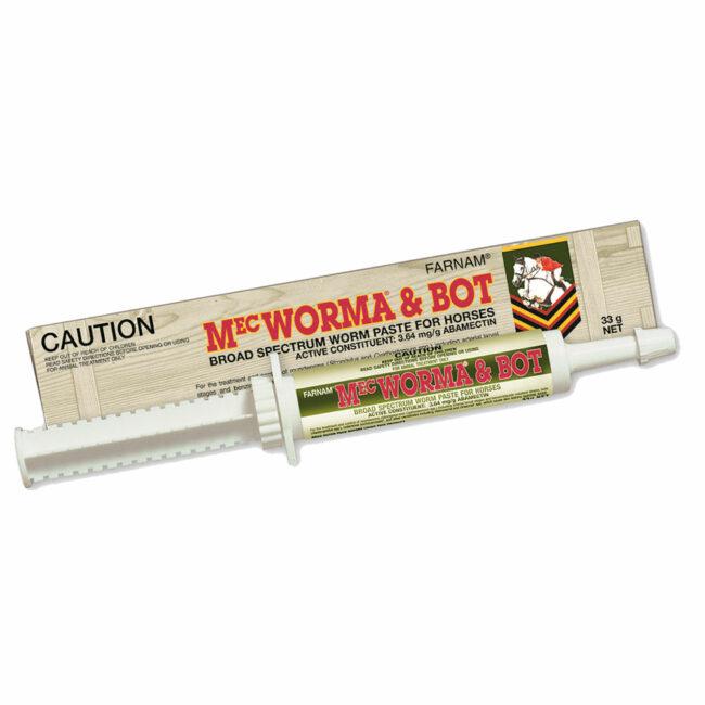 Farnam MecWorma and Bot Broad Spectrum Worm Paste for Horses 33g 1