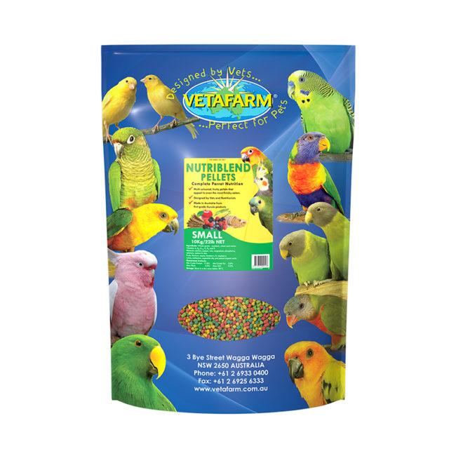 Vetafarm Nutriblend Small Parrot Pellets 10kg