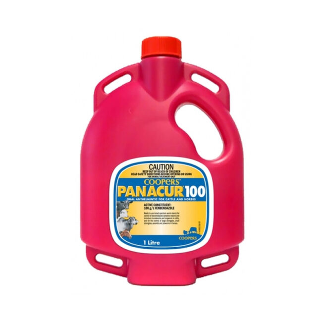 Coopers Panacur 100 Worming Drench for Cattle and Horses 1L 1