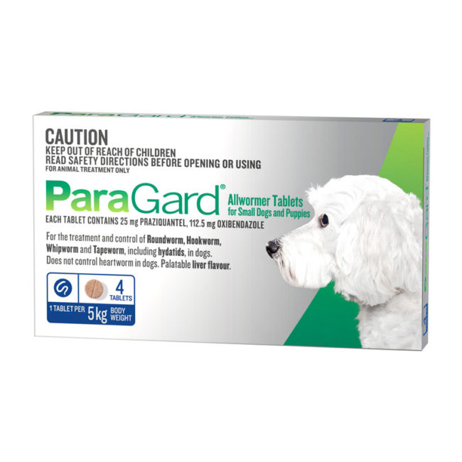 ParaGard Allwormer Tablets for Small Dogs & Puppies - 4 Pack 1