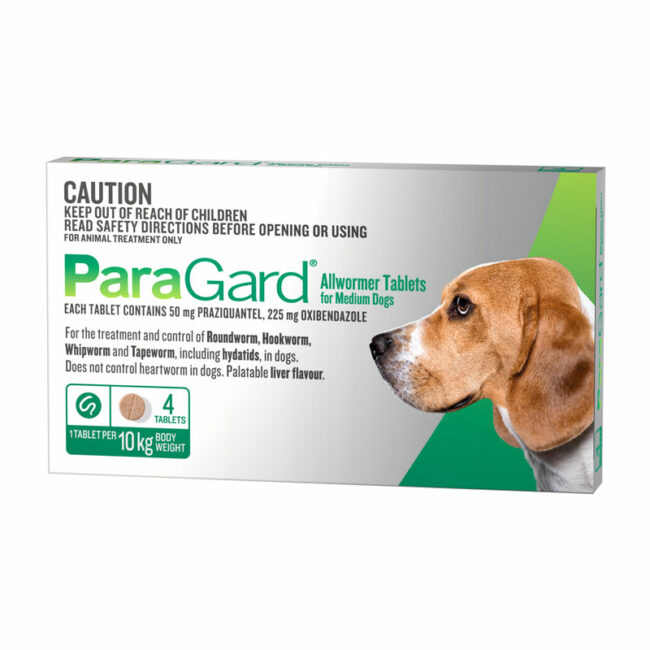 ParaGard Allwormer Tablets for Medium Dogs - 4 Pack 1