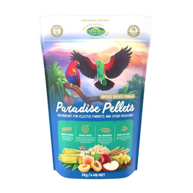 Vetafarm Paradise Pellets for Frugivores 2kg