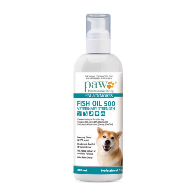 PAW Fish Oil 500 Veterinary Strength 200ml 1