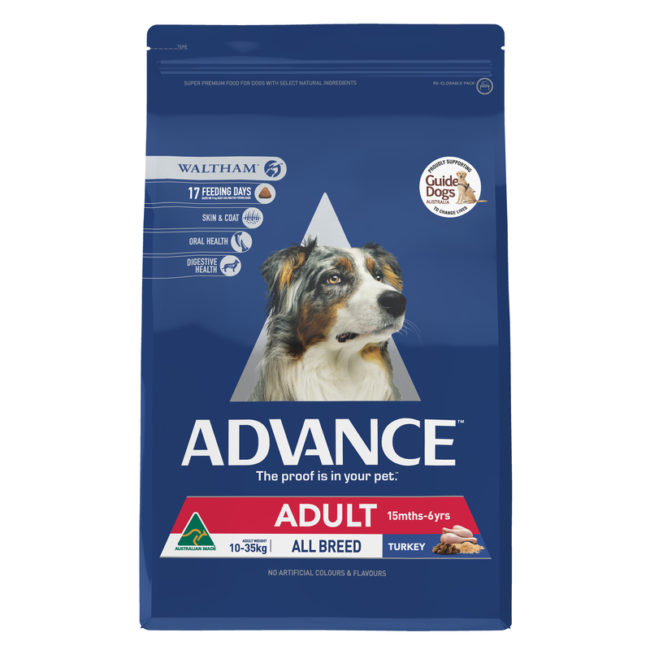Advance Adult Dog Total Wellbeing Toy & Small Breed Turkey & Rice 3kg 1