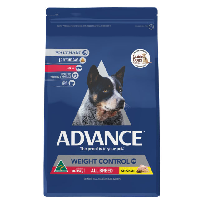 Advance Adult Dog Weight Control All Breed Chicken 2.5kg 1