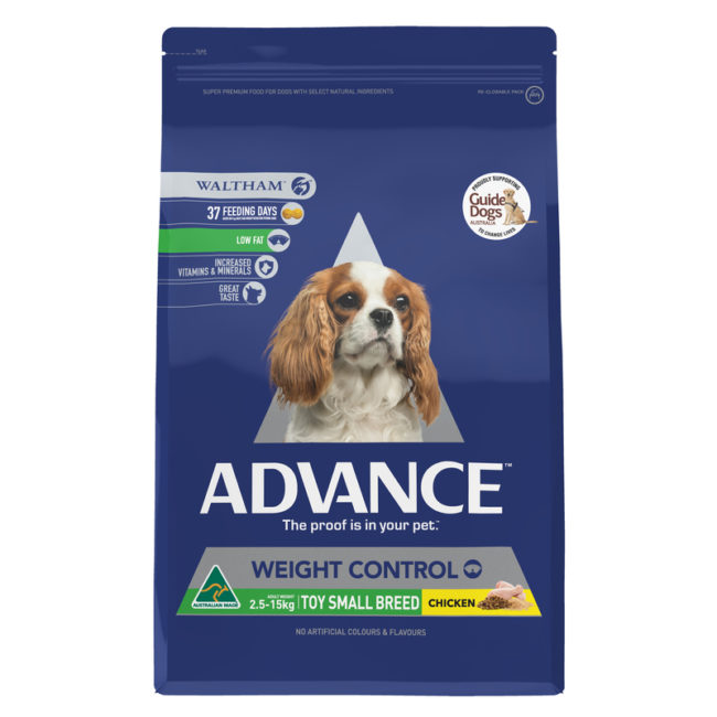 Advance Adult Dog Weight Control Toy & Small Breed 2.5kg 1