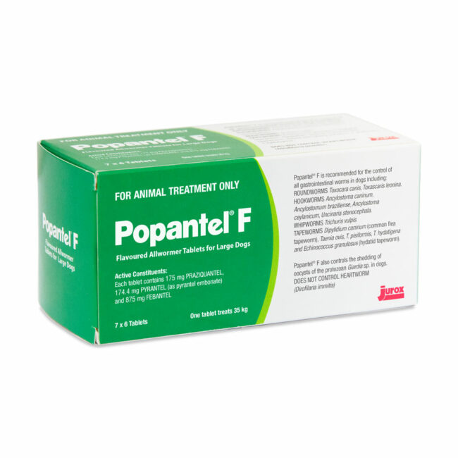 Popantel F Flavoured Allwormer Tablets for Large Dogs - 42 Pack 1