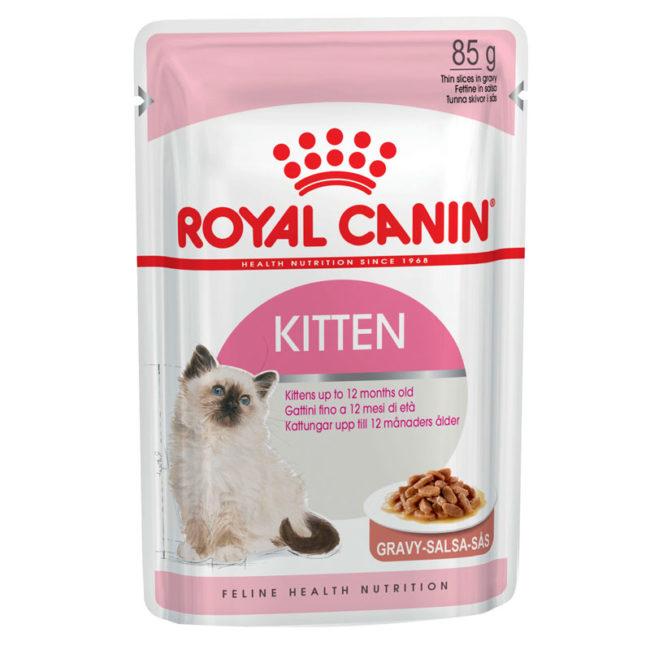 Royal Canin Kitten Food Gravy 85g x 12 Pouches 1