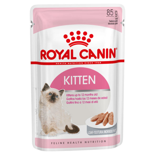 Royal Canin Kitten Food Mousse Loaf 85g x 12 Pouches 1