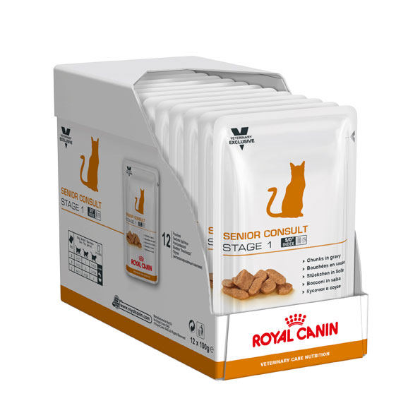 Royal Canin Vet Care Nutrition Feline Senior Consult Stage 1 - 100g x 12 Pouches 2