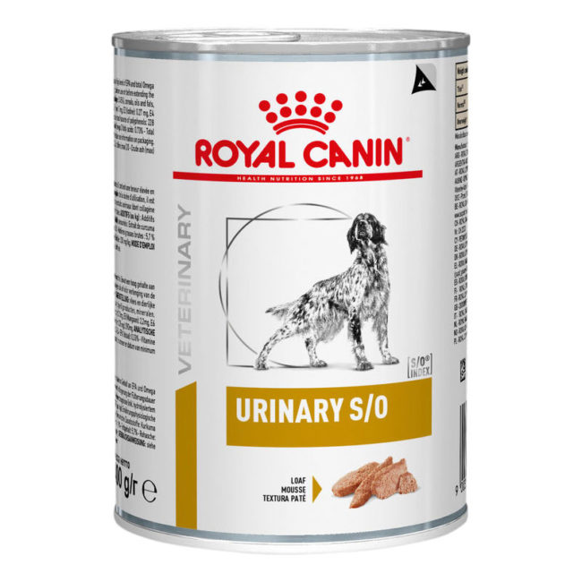 Royal Canin Vet Diet Canine Urinary S/O 410g x 12 Cans 1