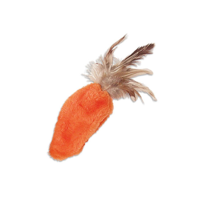 KONG Refillables Catnip Feather Top Carrot Toy 1
