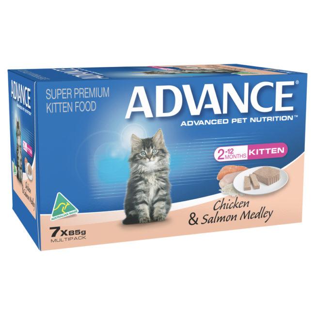 Advance Kitten Chicken & Salmon Medley 85g x 7 cans 1